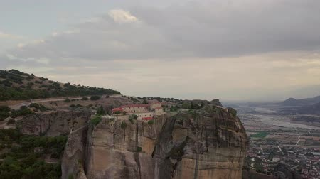 greek : Landscape of Greek Meteora Stock Footage