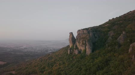 meteora : Beautiful mountain view from the air