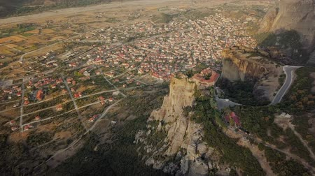 meteora : City in Greece from the air