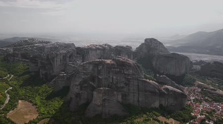 meteora : Landscape of the Meteora Mountains view from the quadrocopter