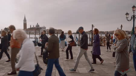 venezia : Tourists in Venice. Italy, autumn 2018