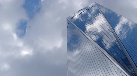 Glass building against the sky in New York City