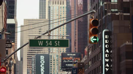 Бродвей : Traffic light on Broadway, NYC