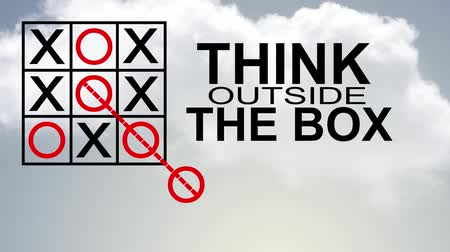 outside : think outside the box Stock Footage