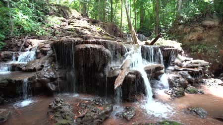 in the mount or thailand there is an waterfall Стоковые видеозаписи