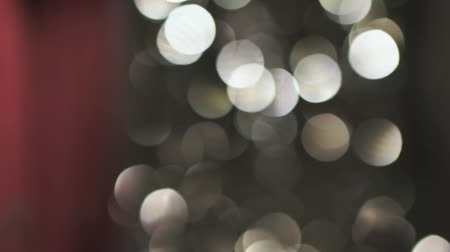 reflektör : Abstract glittering gold lights, a real shot video in the blur Stok Video