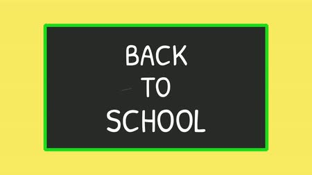 Back to school text flat motion graphic animation Dostupné videozáznamy