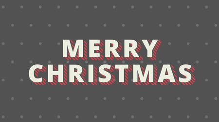 Merry christmas text animation