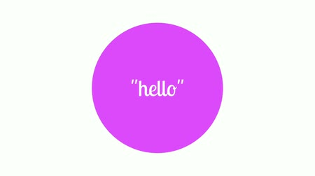 Say hello with text animation