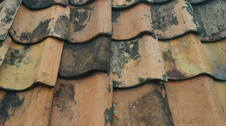 galets : Traditional tile roof from clay, close up shoot