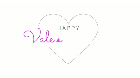 Hapoy valentine day in motion graphic