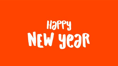 Happy new year 2020 text video animation