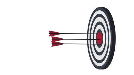 aim : Target Arrows at the target, animation with the alpha channel enabled Stock Footage