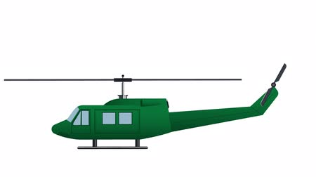 aircraft cabin : Helicopter Transport, animation with alpha channel enabled Stock Footage