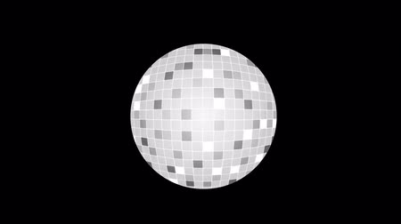 Disco ball. Party, animation with the alpha channel enabled Стоковые видеозаписи