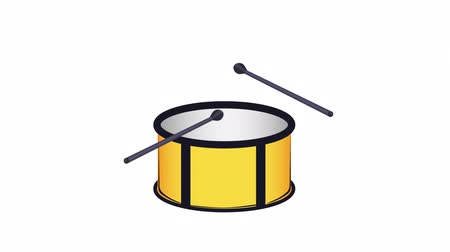 симфония : Drum Percussion, musical instrument, animation with alpha channel enabled