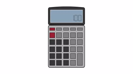 дополнение : Calculator, animation with alpha channel enabled Стоковые видеозаписи