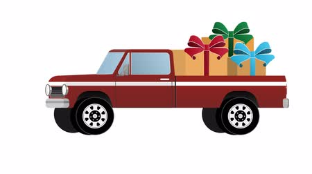 adresa : The car with the gifts, animated with the included alpha channel