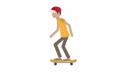 Skater. Skateboarding, animation with alpha channel enabled