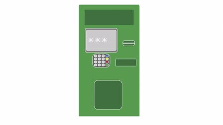 bankomat : ATM, animation with alpha channel enabled
