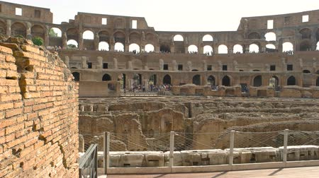 bricks : Colosseum and people. Historic landmark of Rome.