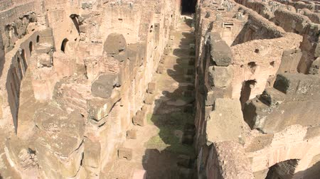 flavian : Ruins of Colosseum, hypogeum. Ancient architecture and sunlight.