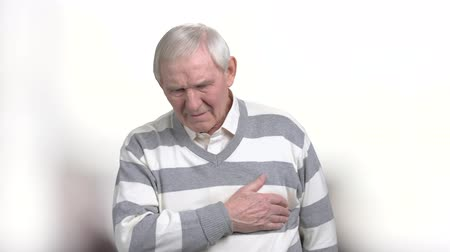 infarction : Old man with painful feelings in chest. Senior man with atherosclerotic cardiovascular disease. Identify different types of chest pains.