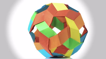 spiky : Colorful spherical origami ball. Beautiful kusudama ball. Kusudama art concept.
