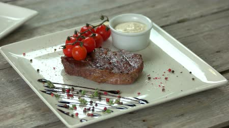 kekik : Ribeye steak with spices. Tasty meat dish.