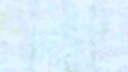 Natural falling snow on blurred winter background. Snow storm outdoors. Heavily falling cold blue particles. Blurry winter wallpaper.