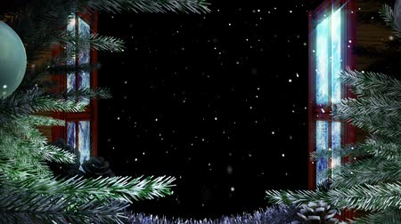 tempo de natal :  Animated Holiday Christmas window with isolated alpha mask