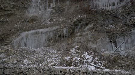 rampouch : Icicles on a hill along the road
