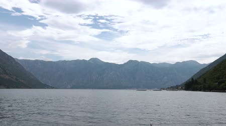 balkan : Boka Bay in Montenegro. Beautiful mountains and crystal clear sea Stock Footage