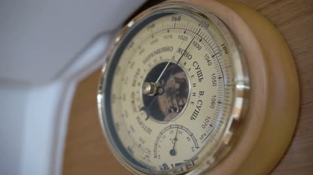 barometr : Barometer on a sailing yacht, close up Wideo