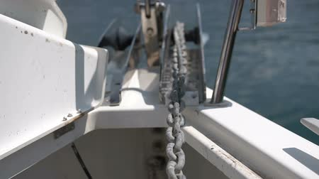 lanoví : Close-up of a yachts anchor chain