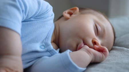дополнение : sweet little baby boy is sleeping with his finger in his mouth