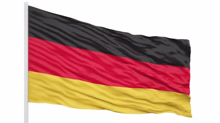 3d seamless looping of the Germany flag waving in the wind. Alpha mask included