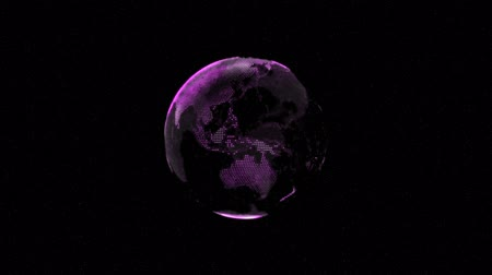3d animation of Earth planet slowly rotating around its axis (loopable)