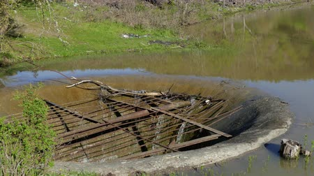 culvert : Old Drainage System In A Lake At Summer
