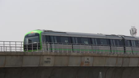 bangalore : Bangalore, India - Circa February, 2019. View of metro railway train in Bangalore.