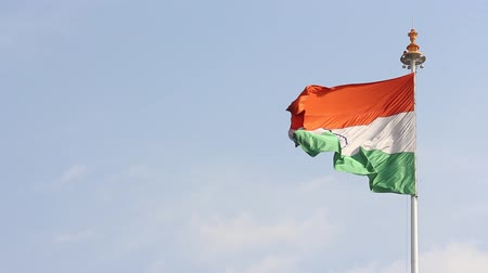 gurur : Indian flag at Jaipur railway station.