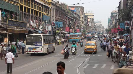 kolkata : Kolkata, India - Circa March 2019. Street traffic in Kolkata.