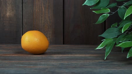 tangerina : oranges on the wooden table