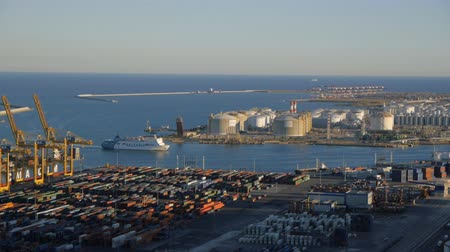 area of port : Aerial view of Barcelona port