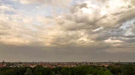 amsterodam : Beautiful time lapse of the view over Amsterdam with a nice cloudscape Dostupné videozáznamy