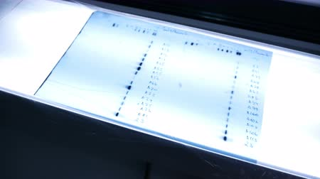 Lightbox for films in the laboratory laboratory Vídeos