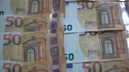 euro banknotes : Euro and US dollars money concept