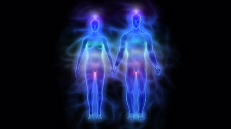 исцелять : Healing energy, aura and chakras - woman and man