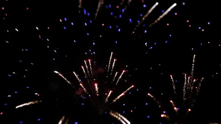 sylvester : fireworks at night Stock Footage