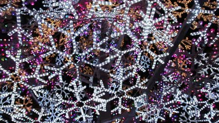 blinking light : christmas abstract light 3 Stock Footage